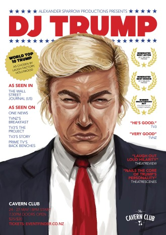 DJ Trump Wellington poster